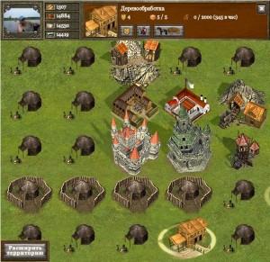 игра Средневековье, пример города из игры