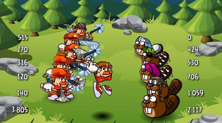 дровосеки битва за дуб и сосну 3